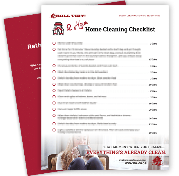 2 Hour Cleaning Checklist mockup